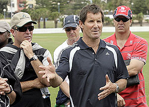 New Zealand Canterbury Crusaders coach Robbie Deans - AP Photo/Rob Griffith