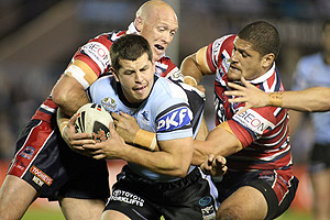 Greg Bird in action during the NRL Round 24, Cronulla-Sutherland Sharks v Sydney Roosters match at Toyota Stadium, on Friday, August 22, 2008. AAP Image/Action Photographics, Grant Trouville