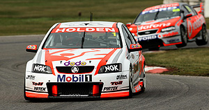 Are the days of Holden and Ford over? Garth Tander of the Holden Racing Team wins round 8 at Winton Raceway, Round 08 of the Australian V8 Supercar Championship Series at the Winton Raceway, Winton, Victoria on Sunday, Aug. 3, 2008. AAP Image/EDGE Photographics, John Pryke