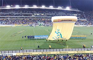 Wallabies v Italy at Canberra Stadium. The Wallabies won 31-8 - photo by Brett McKay
