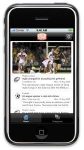 Roar iPhone App - home