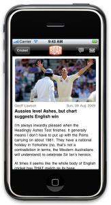 Roar iPhone App - article