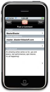 Roar iPhone App - comments