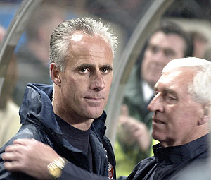 Irish Coach Mick McCarthy. AP Photo/John Cogill