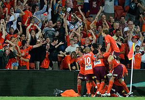 A-League goal celebrated