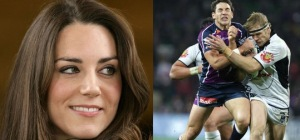 Kate Middleton and the NRL go head to head