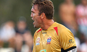 Ljubo Milicevic as former Newcastle Jets captain