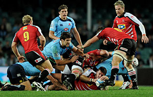 Waratahs beat Lions in mixed performance
