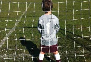 A goalkeeper in junior football