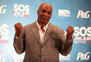Mike Tyson attends the SOS Saving Ourselves Help for Haiti Live Concert. Donald Traill/ AP Photo