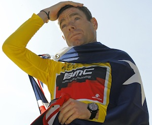 Cadel Evans - winner of the 2011 Tour de France, Sunday July 24, 2011.