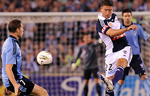 Harry Kewell and Brett Emerton in the A-League