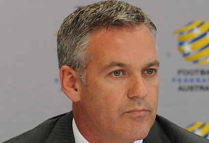 Football Federation of Australia CEO Ben Buckley holds a media press conference. AAP Image/Dean Lewins