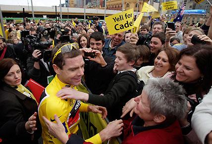 Australian cyclist Cadel Evan. AAP Images