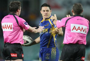 Can pink-shirted NRL refs survive a few F-bombs?