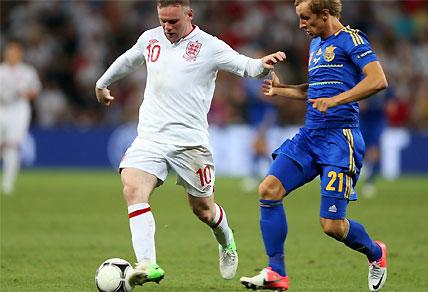 Euro2012 - England's Wayne Rooney on the ball