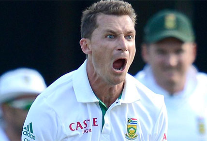 Dale Steyn appeals for a wicket for South Africa