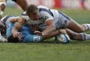 Bernard Foley of the NSW Waratahs scores a try in the second half. (Photo: Paul Barkley/LookPro)
