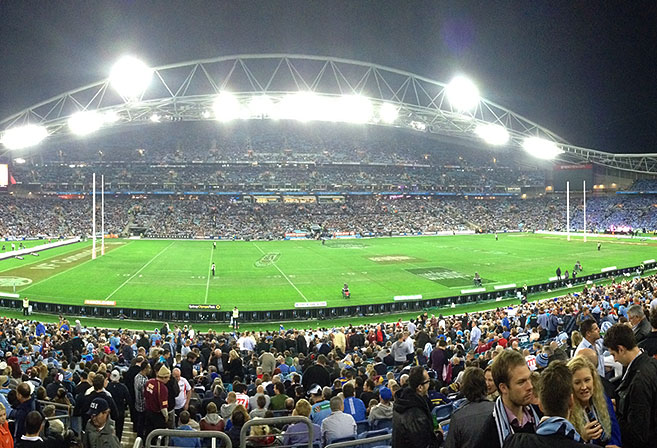 ANZ Stadium before the start of the opening match of the 2013 State of Origin