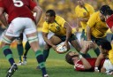 Will Genia of the Wallabies passes from the ruck. (Photo: Paul Barkley/LookPro)