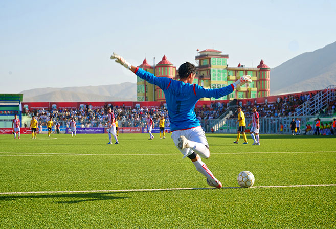 Action from the Afghan Premier League (Image: Alissa Everett Photography).