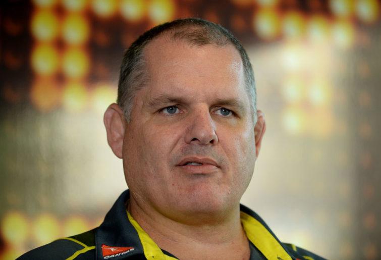Australian Wallabies Rugby Union coach Ewen McKenzie. (AAP Image/Dan Himbrechts)