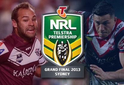 2013 Nrl Grand Final Sydney Roosters Vs Manly Sea Eagles Live Scores Blog