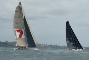 Wild Oats XI out of Sydney to Hobart yacht race