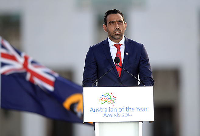 Adam Goodes Australian of the year 2014.