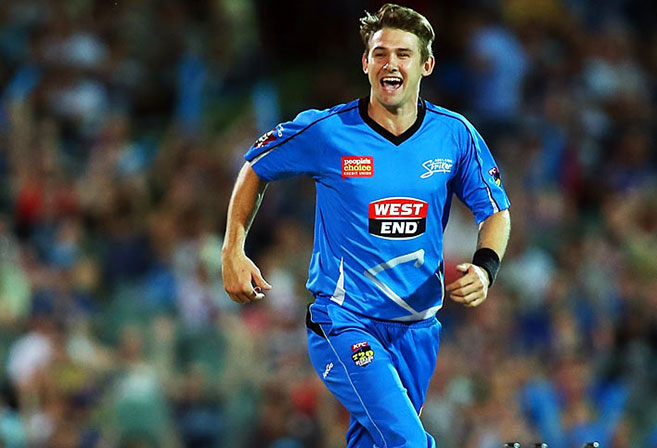 Adelaide Strikers bowler Kane Richardson (Image: TenPlay)