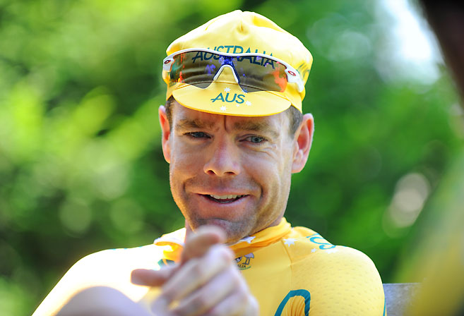 Australian cyclist Cadel Evans. (AAP Image/Tracey Nearmy)