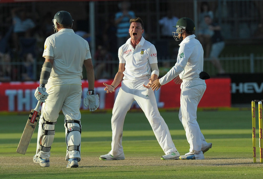 South Africa's cricketer Dale Steyn. AFP PHOTO / ALEXANDER JOE