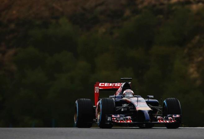 A Red Bull Car in testing before the Australian Grand Prix