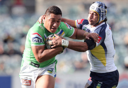 Raiders board give Josh Papalii the 'wet lettuce' treatment