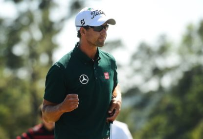 Hot Adam Scott sole Australian PGA leader heading into final day