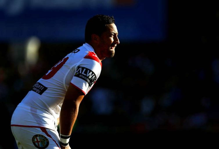 Benji Marshall in his debut for the Dragons
