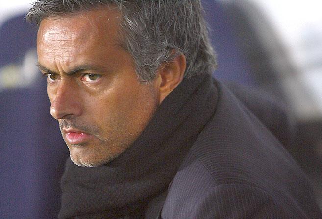 Close-up of Jose Mourinho
