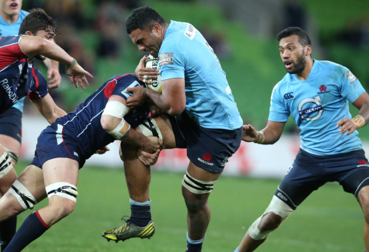 Wycliff Palu in action for the Waratahs
