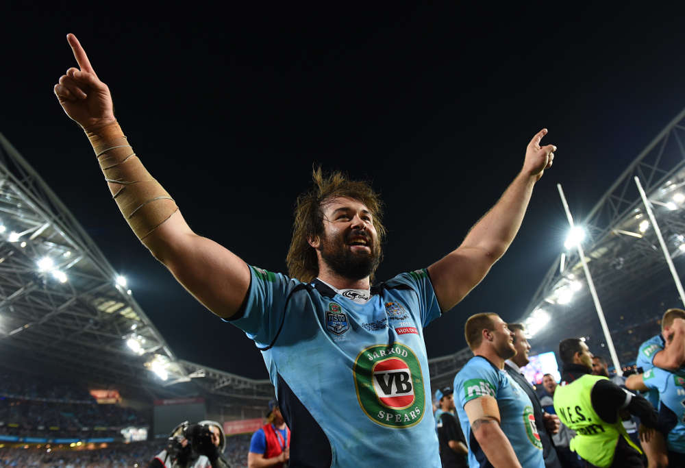 Aaron Woods a happy winner (Photo: @NRLPhotos)