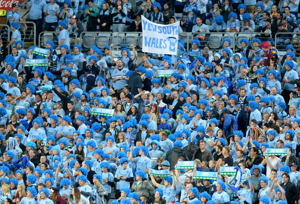 Blues fans at State of Origin Game 2, 2014