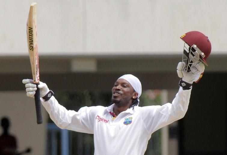 West Indies' opener Chris Gayle
