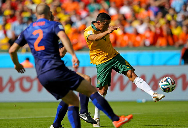 Tim Cahill scored a beautiful volley