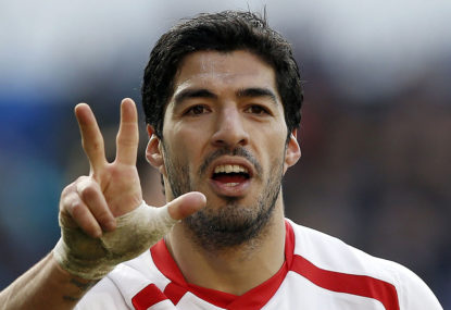 Luis Suarez is currently the best striker in the world