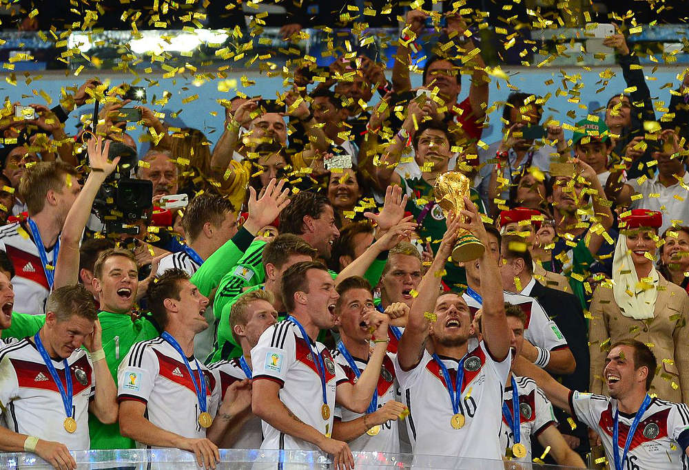 Germany lift the World Cup after their 1-0 win over Argentina in the final