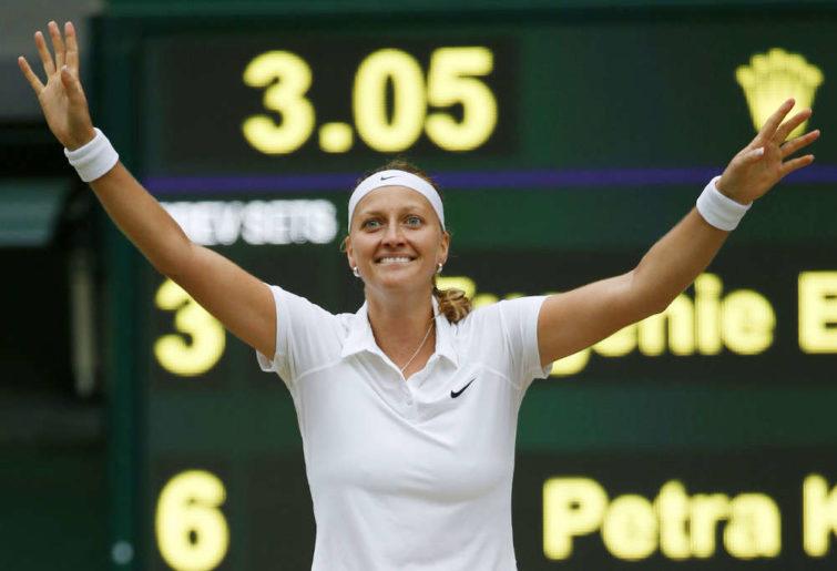 Petra Kvitova won her second Wimbledon singles title. (Kyodo)