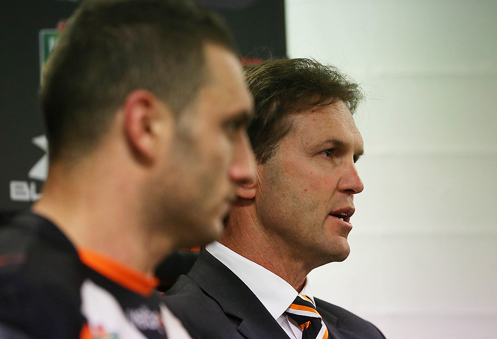 Robbie Farah and Mick Potter in the post match press conference