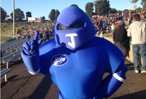 On the Henson Park hill for Reunion Day with the Newtown Jets
