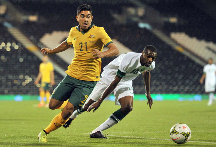 Australia's midfielder Massimo Luongo