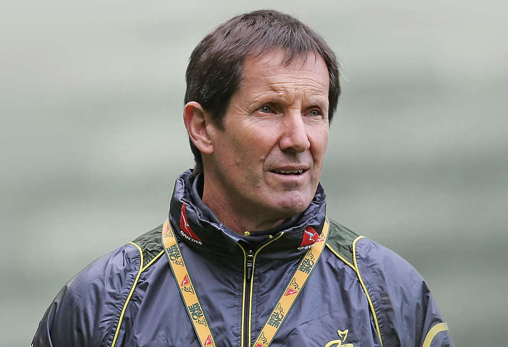 Robbie Deans in Wallabies training gear
