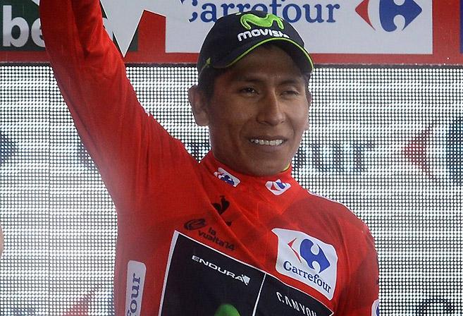 Nairo Quintana Vuelta a Espana 2014 Stage 9